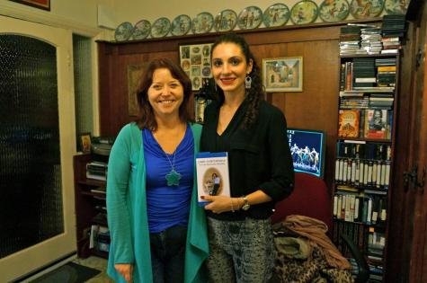 With fellow Leigh author - Audrey Snee - The Tokyo Express