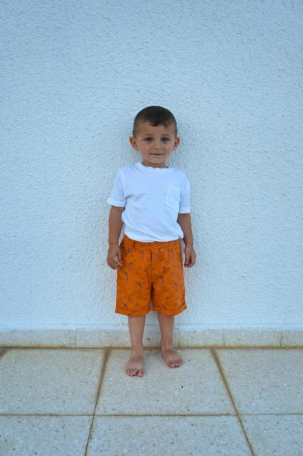 orange kids shorts