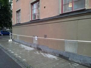 Nymålad fasad Torsgatan 69