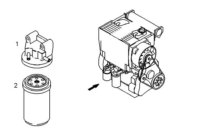 Linde Forklift 0009830525 Diesel Filter DEUTZ DZ01174696