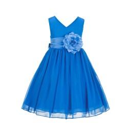 d60f928cef5 Cornflower Yoryu Chiffon V Neck Flower Girl Dress Formal Stylish