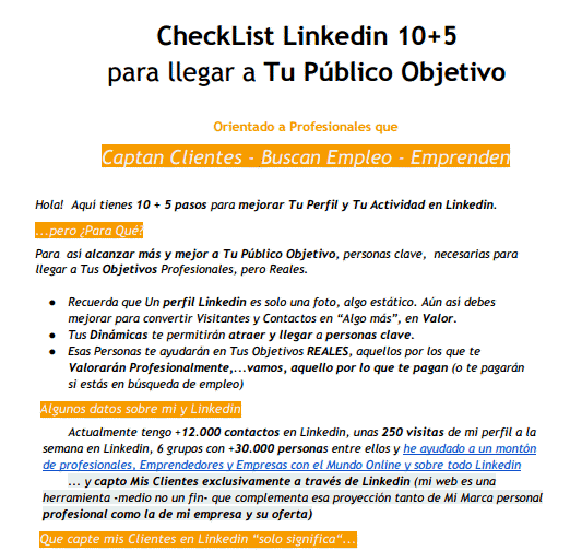 checklist Linkedin by e-Kikus.com