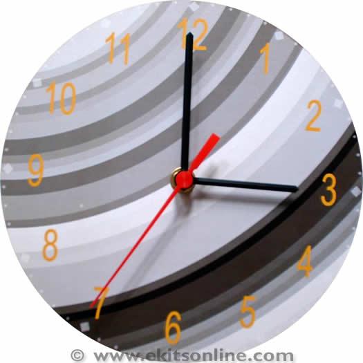 Grey Designer Clock