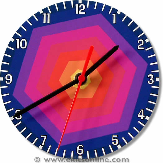 Rainbow hex Clock