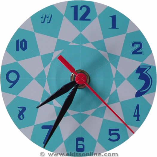 Spiral cyan cd clock
