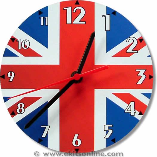 UK Union Jack Flag Clock