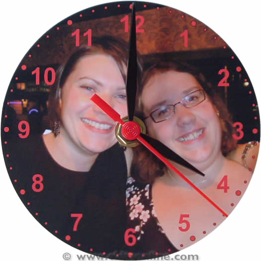 Caz and Christy cd clock