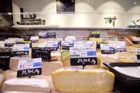 Cheeses displays