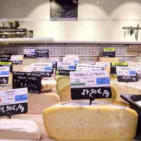 Cheeses displays