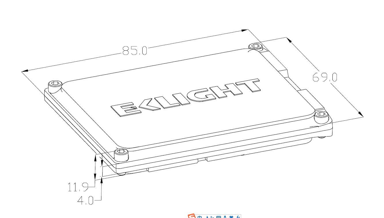 2018 EKlight Q4S Slim design Canbus Hid Xenon Ballast kits