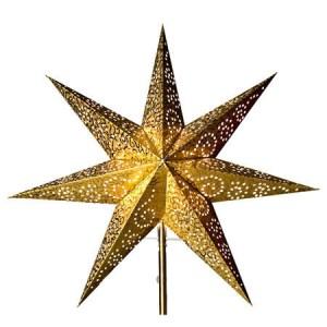 Pappersstjärna Antique Guld