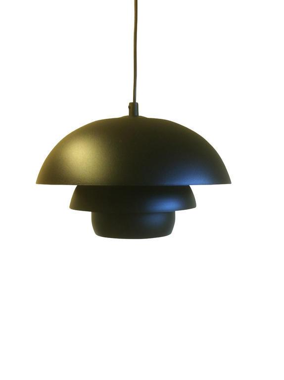 Taklampa Emil Svart 30 cm. Eklunds Metall