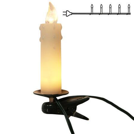 Julgransbelysning Inomhus LED Klar Vit Vaxljus 10L