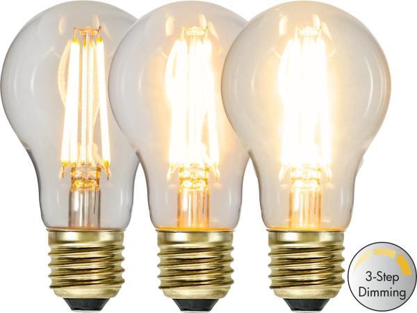 LED-LAMPA E27 SOFT GLOW 3-STEP