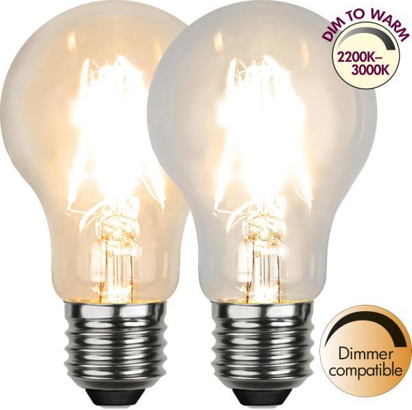 LED-LAMPA E27 SOFT Dim to Warm