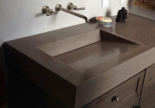 Incline Trough Sink  Ramp Style Commercial and Custom Residential Bathroom Sink By Eko