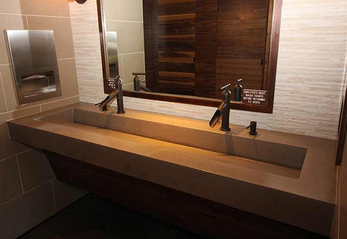 Commercial Trough Bathroom Sinks  Custom and Standard by Eko Living Elements LLC