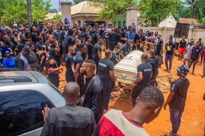 PHOTOS: Tears, Tributes Flow As Only Child Killed By Dangote Cement Trailer Gets A Hero's Farewell