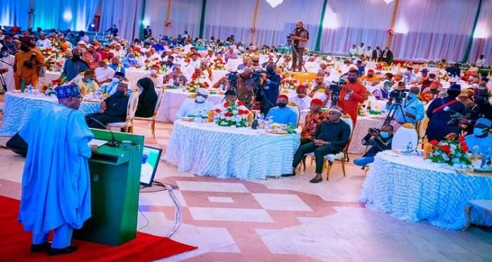 What President Buhari Told Senators, House Of Reps Members At Dinner