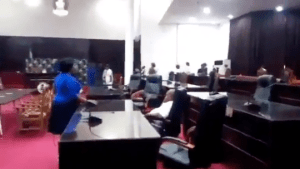 BREAKING: Speaker, Other Lawmakers Escape Death As Gunmen Attack Imo Assembly