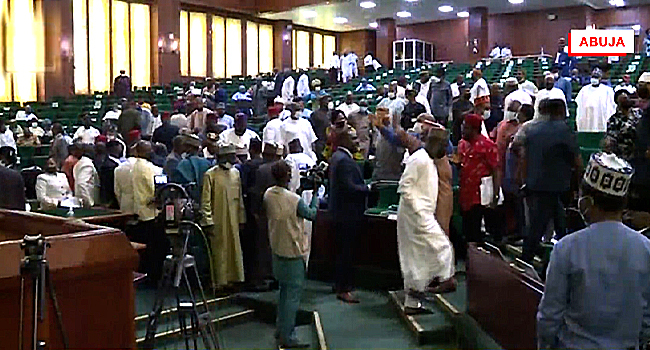 BREAKING: Fight Breaks Out In House of Reps, E-Transmission