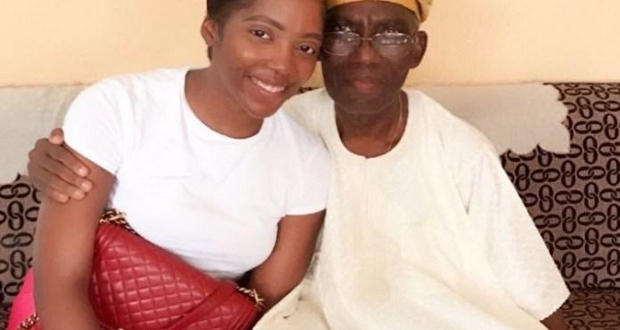 BREAKING: Nigerian Singer, Tiwa Savage, Loses Father