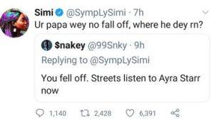 Simi And Ayra Starr Shut Down A Bitter Troll