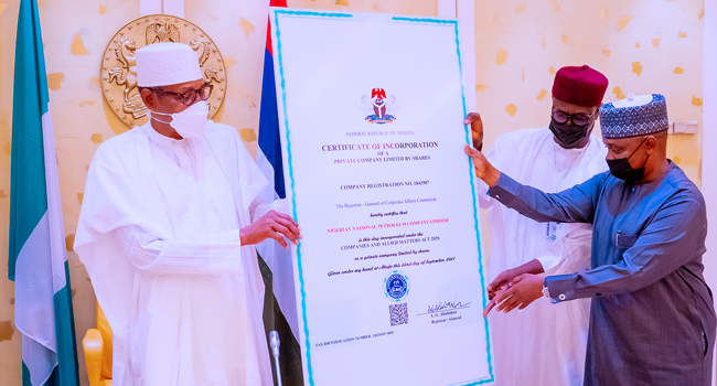 NNPC Certificate Of Incorporation