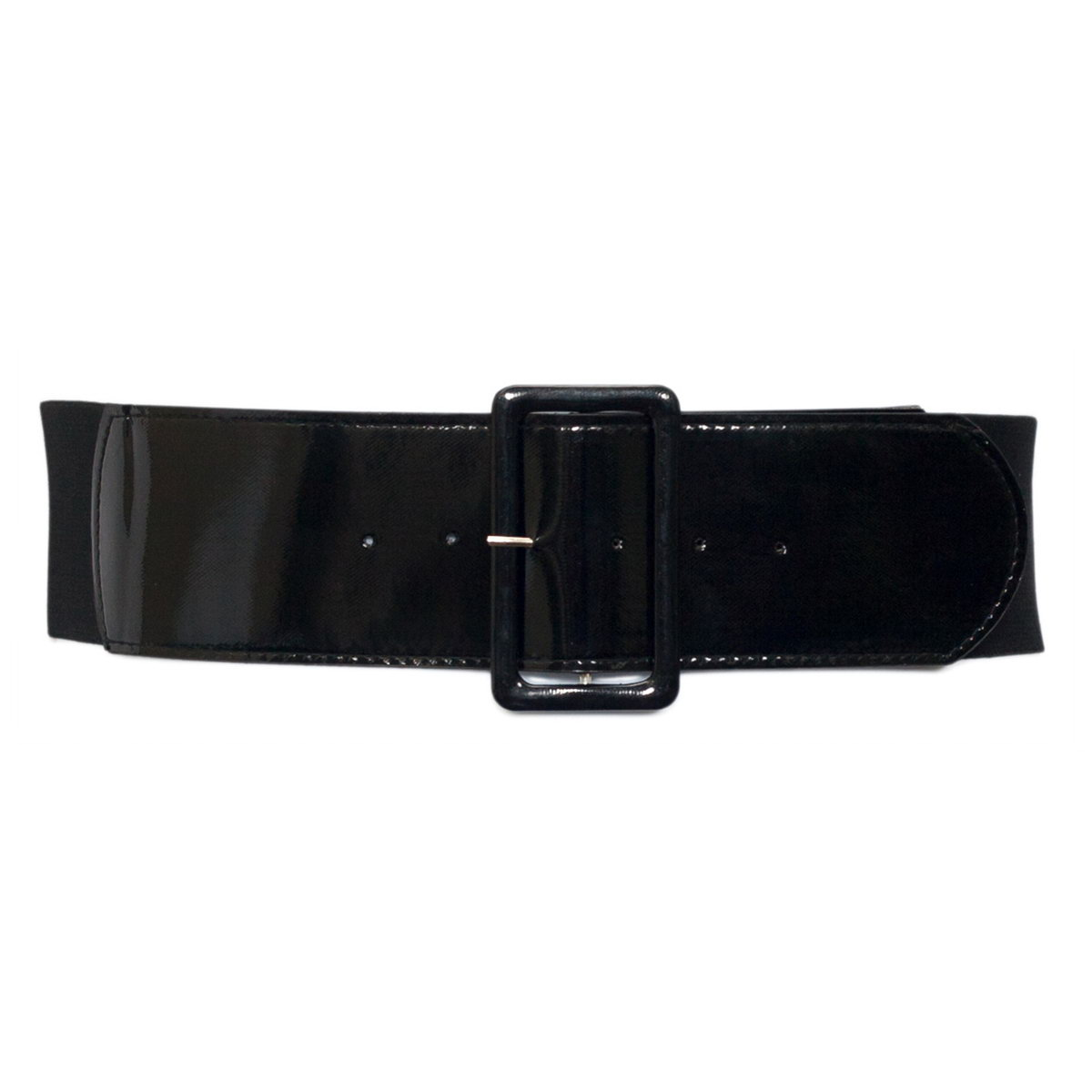 Plus Size Wide Patent Leather Fashion Belt Black Photo 1