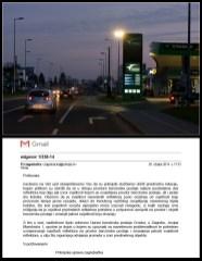Reflektor kod benzinske pumpe, Avenija Većeslava Holjevca, Zagreb