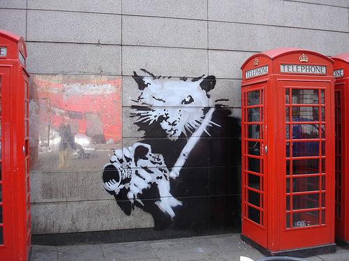 banksy | rat | phone | ukingdom