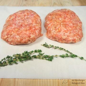 Berkshire varkensvlees - Hamburger Biologisch