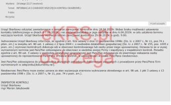 fałszywe maile z urzędu skarbowego