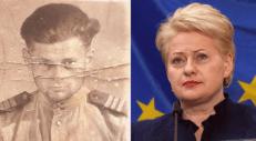 Tiesa, kad vaikai neatsako už savo tėvus. Bet tiesa ir tai, kad aukščiausių šalies vadovų biografijose negali būti nutylėti jokie svarbūs faktai, o tuo labiau piliečiams negali būti skelbiama tiesos neatitinkanti informacija. Nuotr. Polikarpas Grybauskas ir Dalia Grybauskaitė