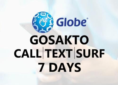 7 days globe gosakto call text data internet combo promos
