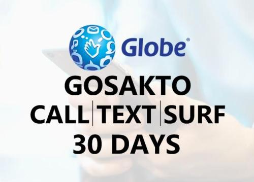 30 days globe gosakto call text data mobile internet combo promos