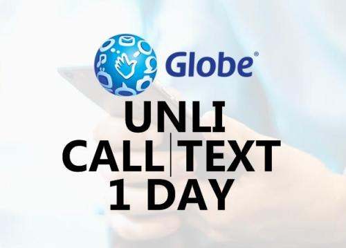 globe unli call and text for 1 day