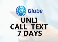 globe unli call and text for 7 days