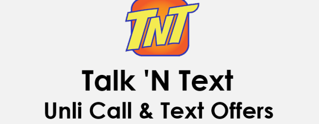 TNT Unli Call And Text Combo Promo Offers