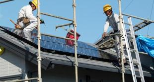 installation of solar panels