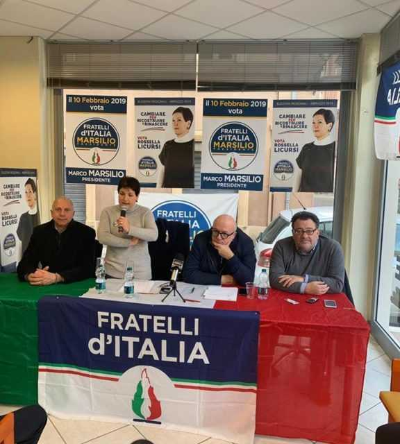 REGIONALI, FRANCESCO STORACE A TERAMO PER INCONTRARE LA CANDIDATA ROSSELLA LICURSI (FDI)