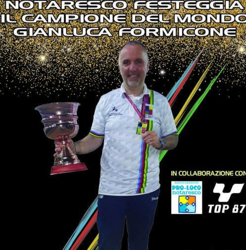 Bocce, Notaresco celebra il suo campione del mondo Gianluca Formicone
