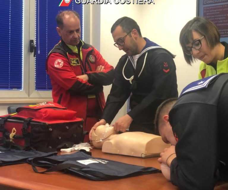 Giulianova, Guardia Costiera: concluso un primo corso di disostruzione pediatrica