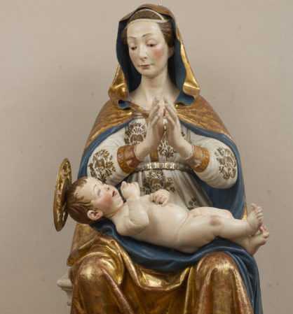Teramo Nostra, la statua della Madonna delle Grazie alla Casa di Riposo De Benedictis