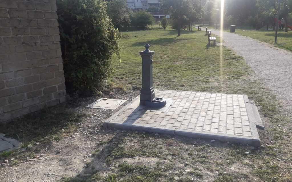 FOTO    Teramo, due nuove fontanine in funzione lungo i parchi fluviali