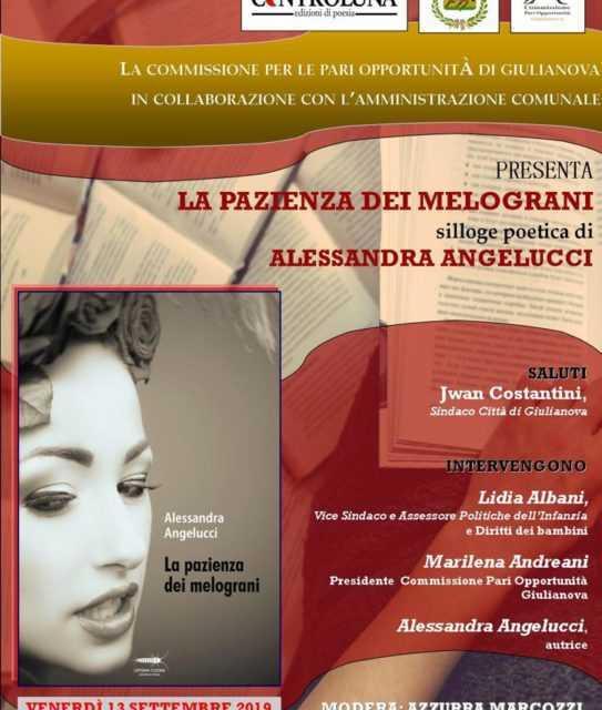"""La CPO di Giulianova presenta """"La pazienza dei melograni"""" di Alessandra Angelucci"""
