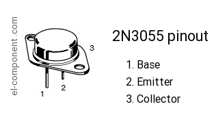 2N3055 npn transistor complementary pnp, replacement