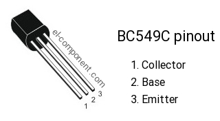 BC549C n-p-n transistor complementary pnp, replacement