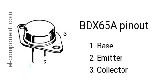 BDX65A n-p-n transistor complementary pnp, replacement