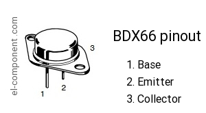 BDX66 p-n-p transistor complementary npn, replacement